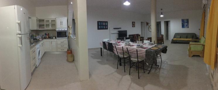 vue salon et cuisine